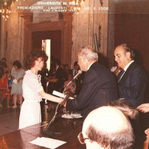 2-Giugno-1985 - Cerimonia 110 e Lode - Laurea in Lingue presso Universita di Pisa